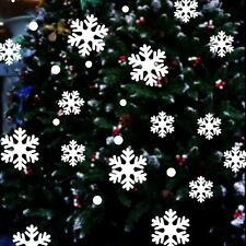 White Decor Xmas Frozen Design Snowflake Wall Sticker Window Decal Christmas