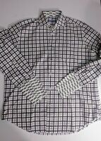 Robert Graham Mens French Cuff Dress Shirt Cars Stripes Size 16.5/42 Large