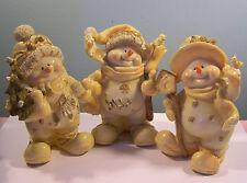 """3 Plastic Snowman Figures 5"""""""