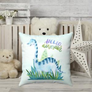 Dinosaur Childrens Throw Pillow - Nursery Room - Kids Bedroom Decor - Gift