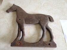 ANTIQUE CAST IRON HORSE WEATHERVANE WINDMILL