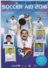 * 2016 SOCCER AID -  ENGLAND v REST OF THE WORLD - PROGRAMME (5th June 2016) *
