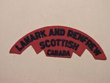 INSIGNE BADGE COMMONWEALTH LANARK AND RENFREW SCOTTISH CANADA