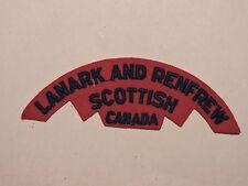 INSIGNE BADGE COMMONWEALTH LANARK AND RENFREW SCOTTISH CANADA