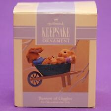 Hallmark Keepsake Ornament Easter 1993 BARROW OF GIGGLES QEO8402 Bunnies