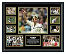 SHANE WARNE SIGNED LIMITED EDITION FRAMED MEMORABILIA