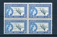GILBERT & ELLICE ISLANDS 1956 DEFINITIVES SG64 ½d (BIRD) BLOCK OF 4 MNH