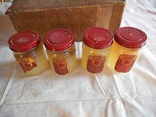 ** Lot of Vintage 4 Old Dol Plain White Petroleum Jelly Jars Bottles Vaseline **