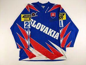 PETER BONDRA Team Slovakia GAME USED and AUTOGRAPHED Hockey Jersey