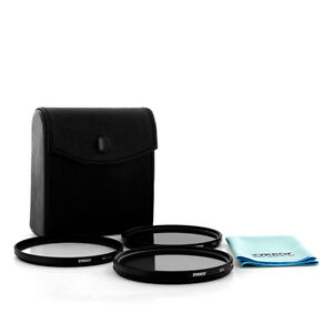 Zykkor Filter Kit Stackable 72mm CPL UV ND4 for Canon 18-200 IS camera lens, NEW