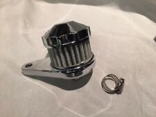 Chrome  crankcase breather, chopper harley trike bobber custom hotrod