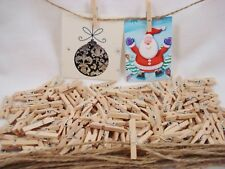 100 x Small Wooden Pegs Natural 25mm Craft Baby Shower Clothespin FREE POSTAGE