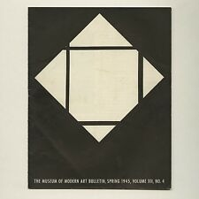 1945 Piet MONDRIAN Retrospective MUSEUM OF MODERN ART Bulletin DE STIJL Picasso