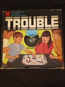 Vintage 1965 Trouble Board Game Kohner Bros.