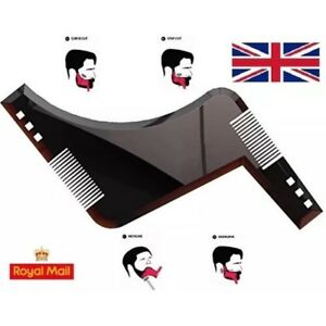UK Beard Shaping Tool Styling Template Shaper Stencil Trimming Face Comb 1st