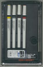 KOH-I-NOOR  Rapidograph 4 Pens Set  #3165SP4 / NEW / NEVER OPENED / UNUSED / NEW