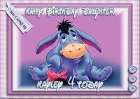 Personalised birthday card eeyore daughter sister  grandaughter