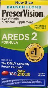 Bausch & Lomb PreserVision Eye Vitamin- AREDS 2 Formula 210 Softgels