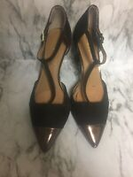Calvin Klein Size 7.5 GINAE Brown Suede Pointed Toe Pumps