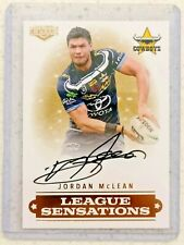 2019 Elite Jordan McLean (Cowboys) League Sensations Signature NRL Card # 11/90