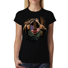 Music Soul Guitar Drumsticks Women T-shirt S-3XL New
