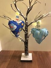 HANDMADE THE SNOWMAN FABRIC HANGING HEART DECORATION