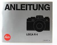 Bedienungsanleitung Leitz Leica R 4 R4 R-4