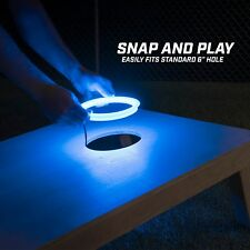 GoSports Cornhole Light Up LED Ring Kit - Compatible with All Cornhole Sets BLUE