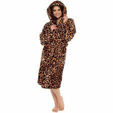 Ladies Womens Dressing Gown Bathrobe Soft Warm Cosy Luxury Hooded Wrap Winter