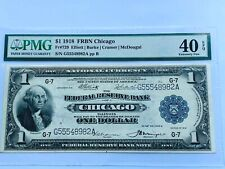 1918 $1 FRBN Chicago - PMG 40EPQ Extremely Fine - Fr. 729 Consecutive 2 of 2