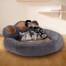 Pet Dog Cat Bed Puppy Washable Fleece Cushion Sleep Washable Fleece Kennel Paw