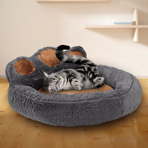 Pet Dog Cat Bed Puppy Washable Fleece Cushion Sleep Washable Fleece Kennel Paw