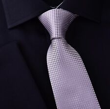 Grey Snakeskin Regular Standard Tie 8cm Classic Necktie Stylish Everyday Party