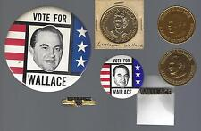 VINTAGE GEORGE WALLACE OF ALABAMA CAMPAIGN BUTTONS & ITEMS - GROUP B