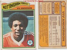 302 VIV ANDERSON # ENGLAND NOTTINGHAM FOREST CARD PREMIER LEAGUE TOPPS 1978