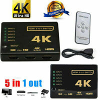 5 Port HDMI Switch Switcher Selector Connector Splitter Hub + Remote For HDTV