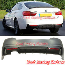 Performance Style Rear Bumper (1 Outlet) [2 Tips / Outlet] Fit 15-18 BMW F36 4dr