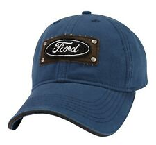 NEW OFFICIAL FORD MOTOR COMPANY LIGHTWEIGHT CANVAS EMBROIDERED BLUE HAT/CAP!