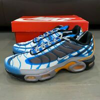 Nike Air Max Plus Photo Blue Grey Orange Black Men's Size 12 New 815994-400