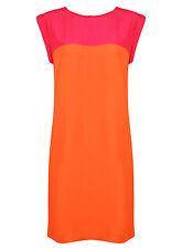 Brand New Ladies Ex Wallis Sleeveless Pink Orange Summer Dress Size 10-14