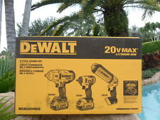 DEWALT 20V Max Impact Wrench DCF899H & DCF883 & Light Combo KIT DCK398HM2
