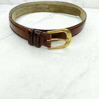 John Henry Brown Leather Belt Size 32 Mens