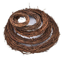 Christmas Natural Dried Rattan Wreath Xmas Garland Decor Door Wall Chic Party
