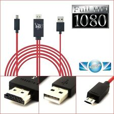 Micro USB MHL to HDMI Cable adapter HDTV for Sony Xperia Z1 Z2 Z3 TX TL ZL Z ZR