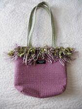 Bagolitas by Janice Purple Shoulder Bag Green Lining w/2 Slide Pockets BOHO CHIC
