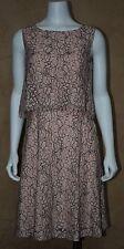 NWT $179 Antonio Melani Emma Two Tone Lace Blossom Blue Sleeveless Dress Sz 8
