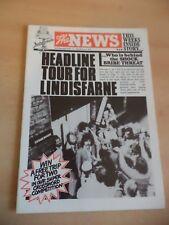 OLD VINTAGE 1970S 1979 LINDISFARNE TOUR PROGRAMME fan club mag ? POP ROCK MUSIC