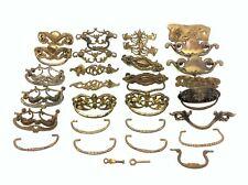 Mixed Vintage & Antique Brass Metal Dresser Pulls Handles Hardware Parts