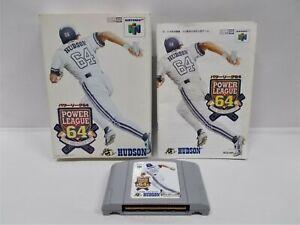 N64 -- Power League 64 -- Boxed. Nintendo 64, Japan. Baseball Game. 18264