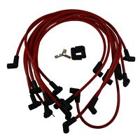 Red Spark Plug Wires  73689 Ultra 40  Set Big Block Chevy BBC 454 502 HEI